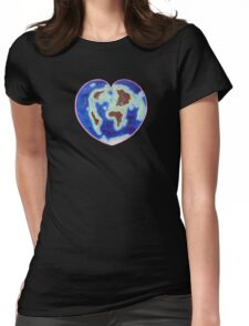 Love Our Earth Womens Fitted T-Shirt