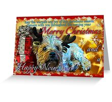 dog christmas card1 Greeting Card