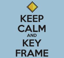 Keep Calm and Keyframe (Black Type) by thekinginyellow