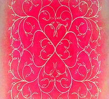 HEARTVINE IPAD CASE RED by Herb Dickinson