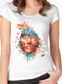 Distress  Women's Fitted Scoop T-Shirt