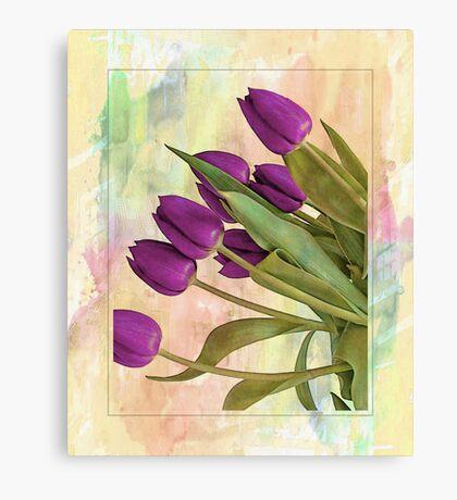 Painterly Tulips Canvas Print