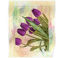 Painterly Tulips Poster