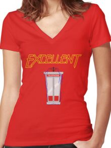 Excellent Women's Fitted V-Neck T-Shirt