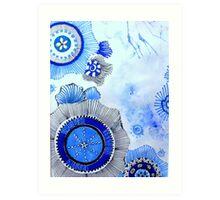 Blue Zen Art Art Print