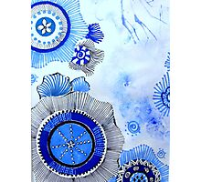 Blue Zen Art Photographic Print