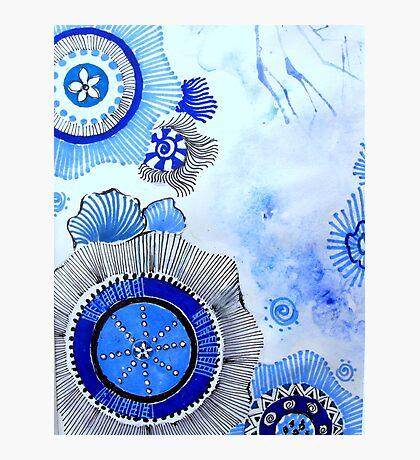 Blue Zen Art Photographic Print