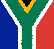 Iphone Case - Flag of South Africa - Vertical Painted by Mark Podger