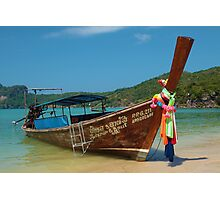 Longtail Boat, Koh Phi Phi Photographic Print