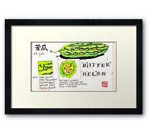 bitter melon Framed Print