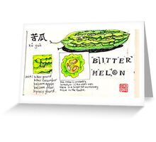 bitter melon Greeting Card