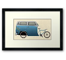 Camper Bike Framed Print