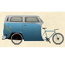Camper Bike Photographic Print