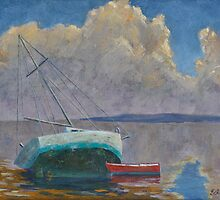 Derelict and Dinghy by Ed Bohon