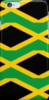 Smartphone Case - Flag of Jamaica - Patchwork by Mark Podger
