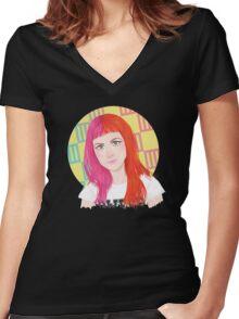HW #9 Women's Fitted V-Neck T-Shirt