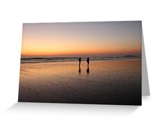 Wandering on the Waves of Sunset Greeting Card
