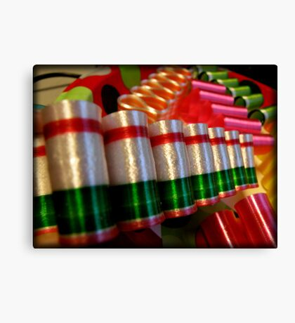Ribbon Candy Canvas Print