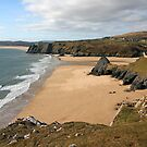 Three Cliffs Bay on the Gower by rltbevan