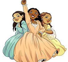 The Schuyler Sisters by andreavasquez