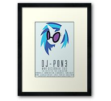 Vinyl Scratch Poster Framed Print