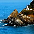 Heceta Head Lighthouse/ Beautiful and Haunted ! by Nancy Richard