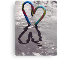Candy Kane Heart Metal Print