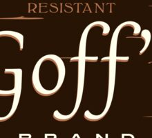 Goff's Brand Chest High Rubber Overpants Sticker