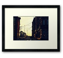 Gritty city.  Framed Print