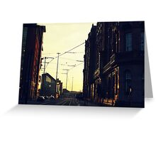 Gritty city.  Greeting Card