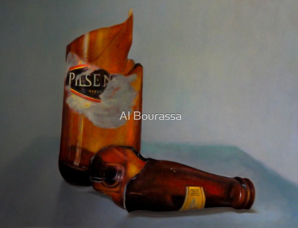 Beer Bottle Art by Al Bourassa