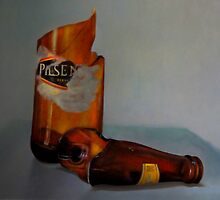 Beer Bottle Art by Al Bourassa