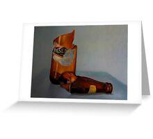 Beer Bottle Art Greeting Card