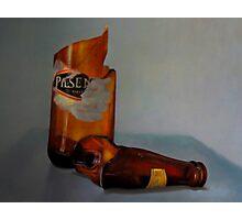 Beer Bottle Art Photographic Print