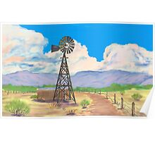 Southwest Windmill  Poster