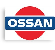 NISSAN parody - OSSAN LOGO Canvas Print