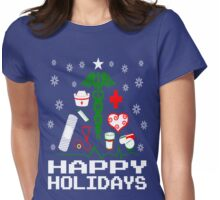Nurse Supplies Christmas Tree Womens Fitted T-Shirt