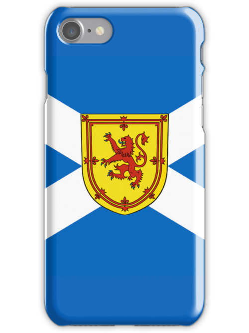 Smartphone Case - Flag of Scotland (unofficial) - Horizontal by Mark Podger