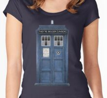 They're Bigger on the Inside! Women's Fitted Scoop T-Shirt