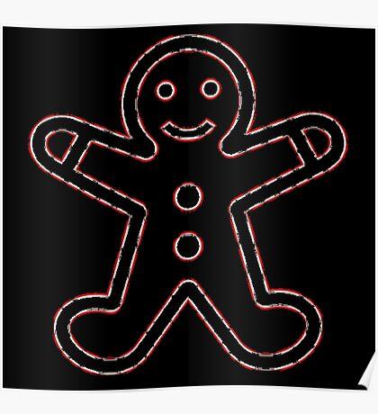 Mr. Gingerbread Man Poster