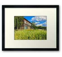 Old Wood House On The Countryside Framed Print