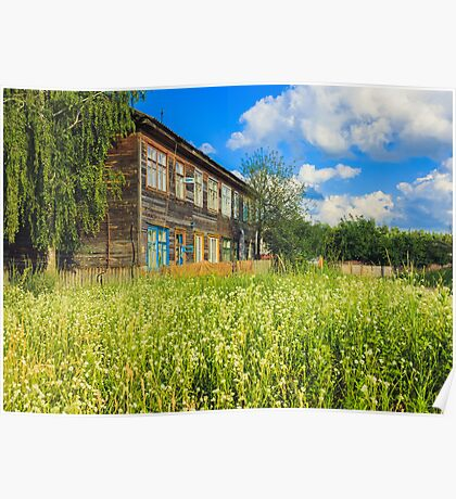 Old Wood House On The Countryside Poster