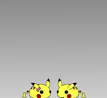 Duo Pikachus by RubyTruffles