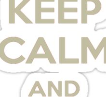 Keep Calm and Ship WonderGun Tee Sticker