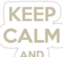 Keep Calm and Ship WonderBeetle Tee Sticker