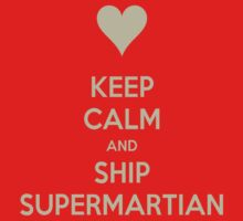 Keep Calm and Ship SuperMartian Tee by Niamh Wilson