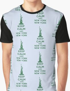 Keep Calm And New York New York Graphic T-Shirt