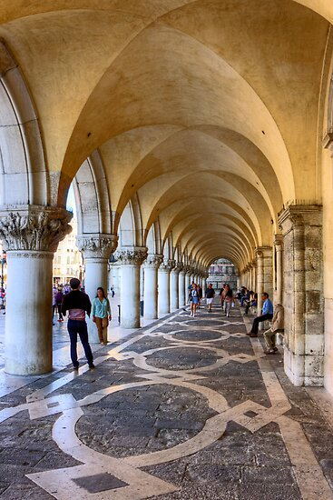 Doge's Palace Colannade by Tom Gomez