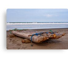Ecuadorian Fishing Raft  Canvas Print