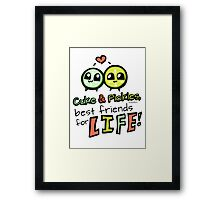 Cuke & Pickles: best friends for LIFE--FOODIES Framed Print